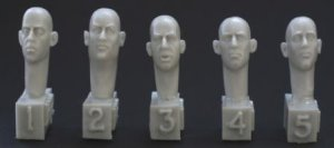 5 different bare heads, laughing, joking  (Vista 1)