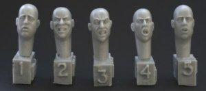 Cabezas Gruí±endo con la boca abierta  (Vista 1)
