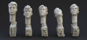 5 different heads with 40's haircuts  (Vista 1)