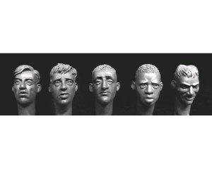 Cabezas con pelo, 1 Africano 4 Europeos  (Vista 1)