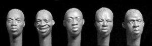 Cabezas Africanos Subsaharianos  (Vista 1)