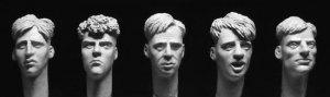 Cabezas con corte de pelo corto de 1940/  (Vista 1)