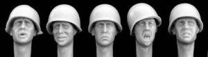 Cabezas con casco US M1  (Vista 1)