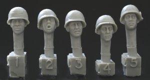 Cabezas U.S. con casco  (Vista 1)