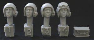 Cabezas casco de EE.UU. AFV, MICS, 1960  (Vista 1)