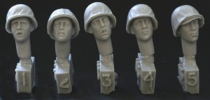 Cabezas con USMC tipo temprano M1 / R  (Vista 1)