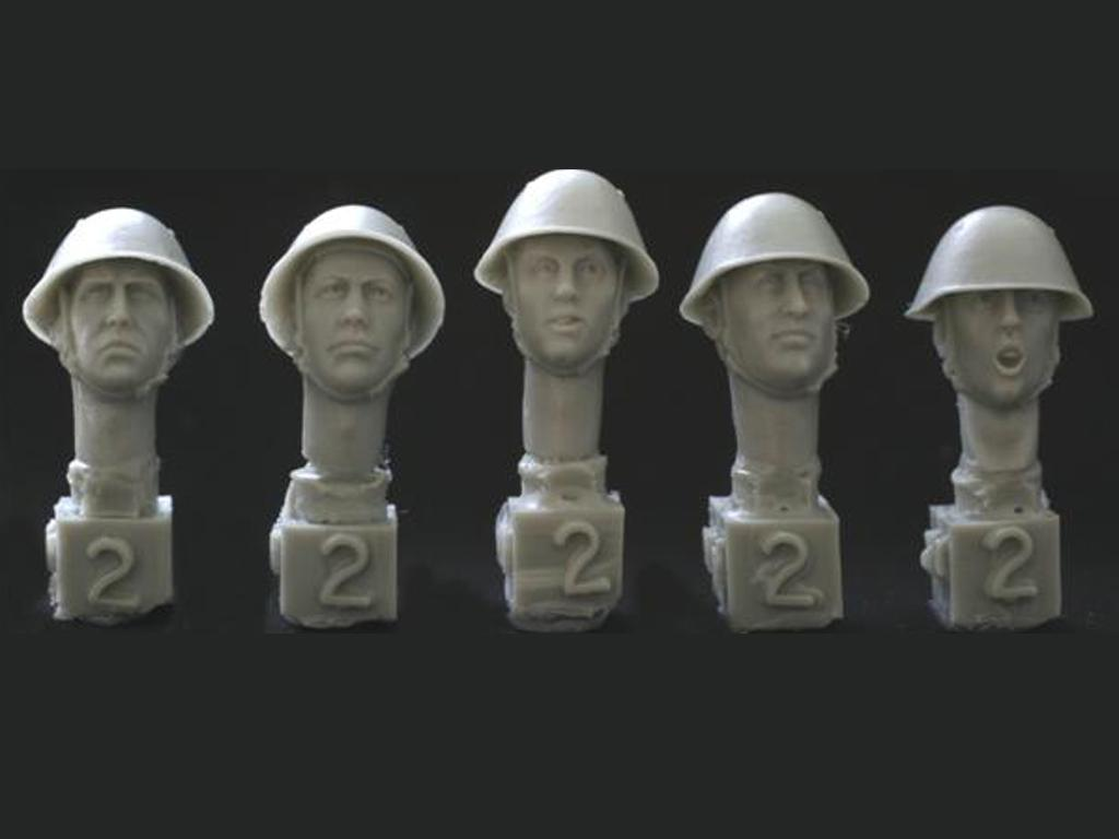 Cabezas casco de Alemania del Este (Vista 1)