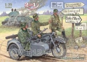 BMW R12 with sidecar military versions  (Vista 1)