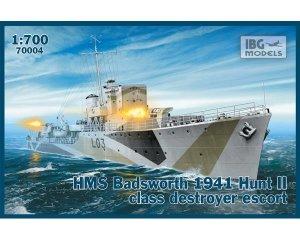 HMS Badsworth 1941 Hunt II class destroy  (Vista 1)