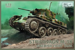 Stridsvagn m/38 Swedish light tank  (Vista 1)