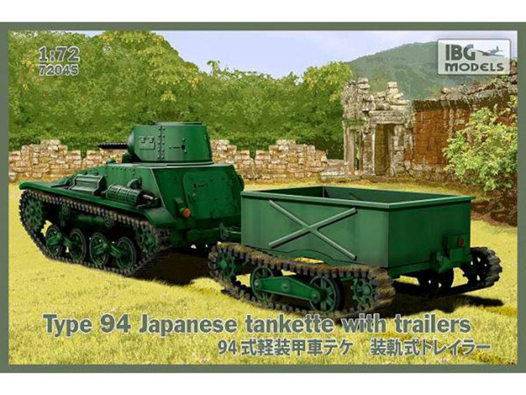 Type 94 Japanese Tankette with trailers  (Vista 1)