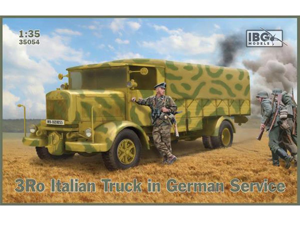 3Ro Camión Italiano en Servicio Alemán (Vista 1)