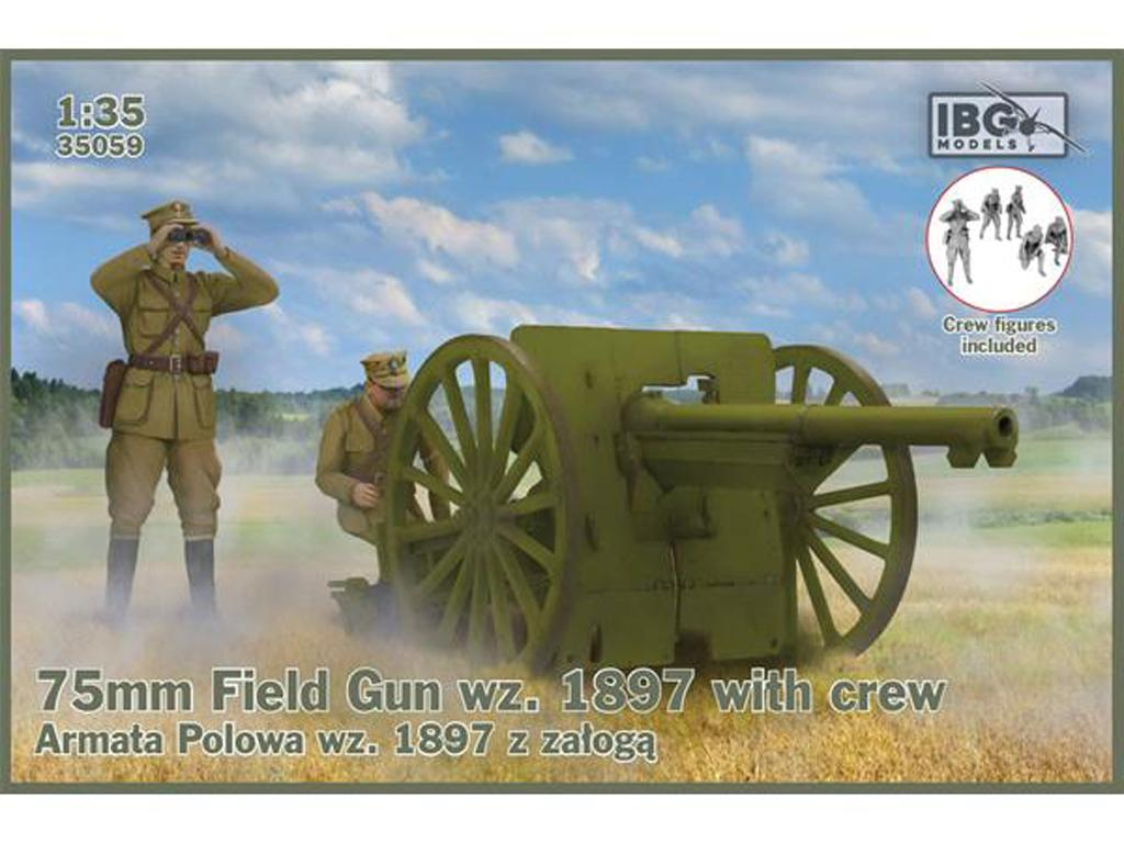 75mm Field Gun wz. 1897 with 5 Polish Artillerymen  (Vista 1)