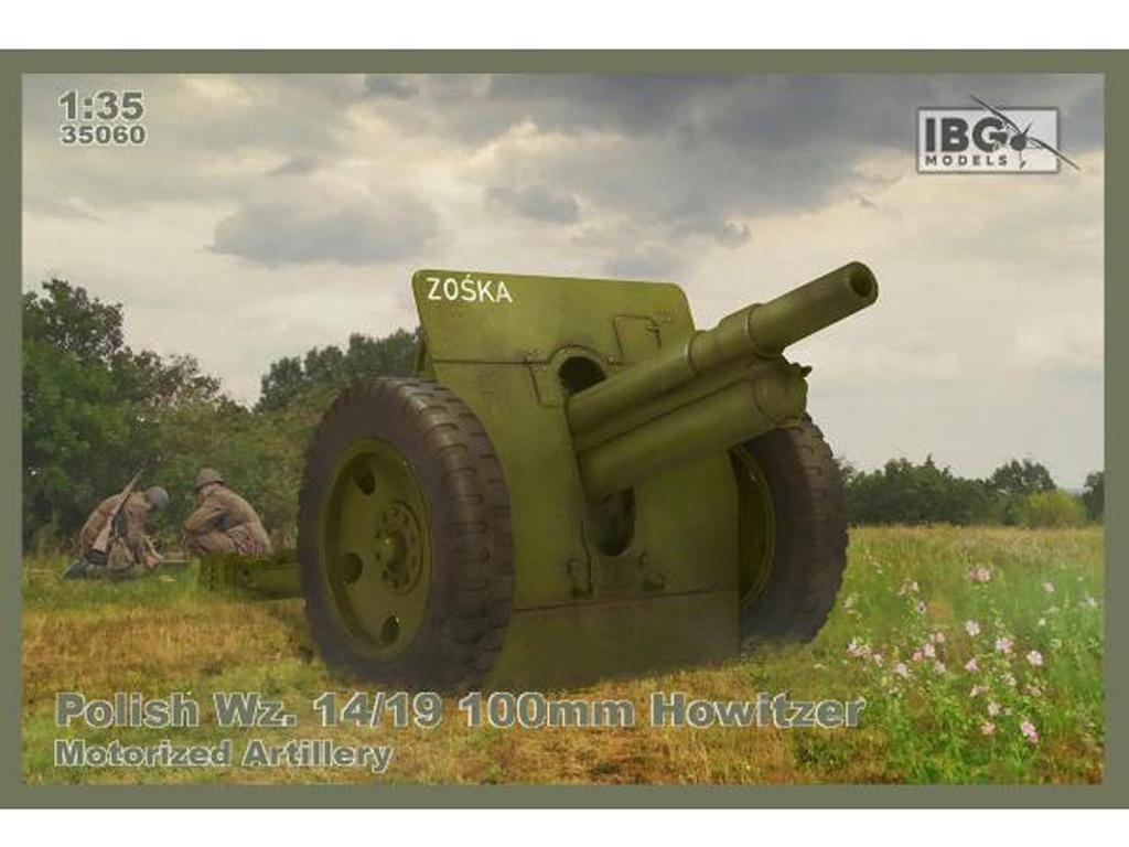 Wz Polaco. Obús de 14/19 100mm - Artilleria motorizada. (Vista 1)