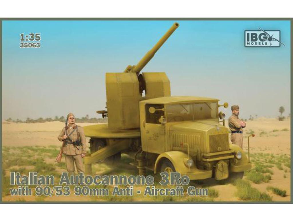 Autocannone 3Ro italiano con un cañón antiaéreo de 90/53 90mm (Vista 1)