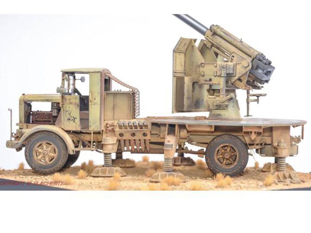 Autocannone 3Ro italiano con un cañón antiaéreo de 90/53 90mm (Vista 2)