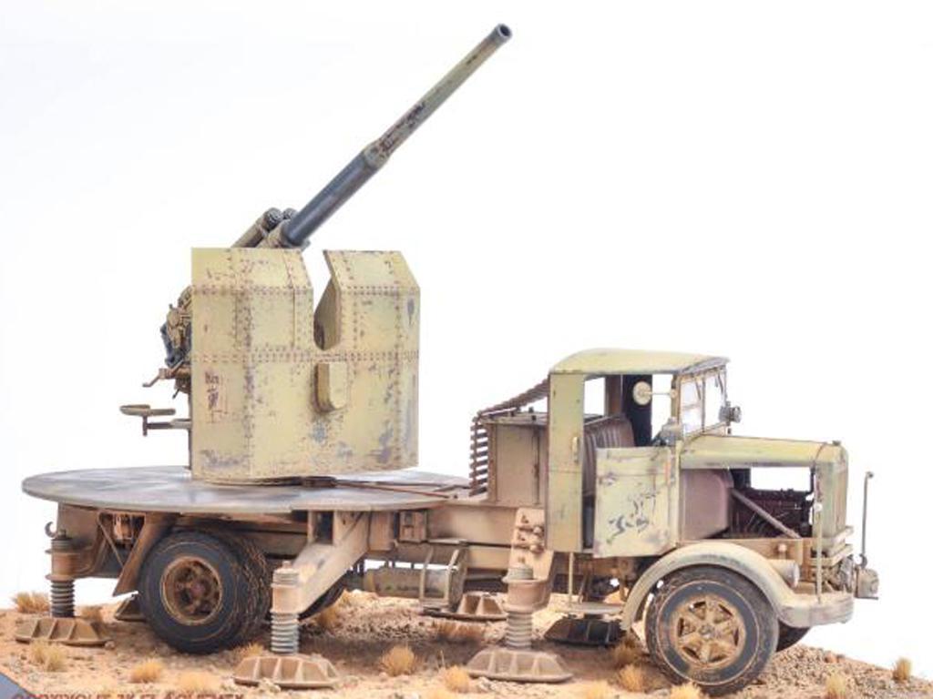 Autocannone 3Ro italiano con un cañón antiaéreo de 90/53 90mm (Vista 3)