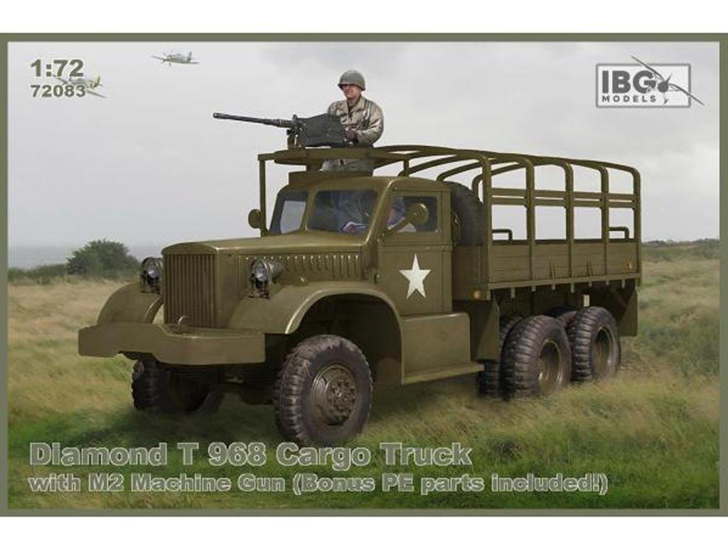 Camión de carga Diamond T 968 con ametralladora M2 (Vista 1)
