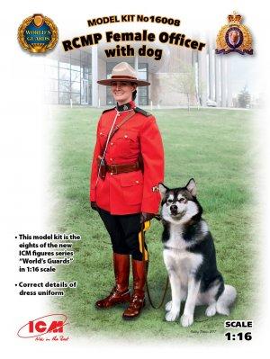 RCMP Female Officer with dog  (Vista 1)
