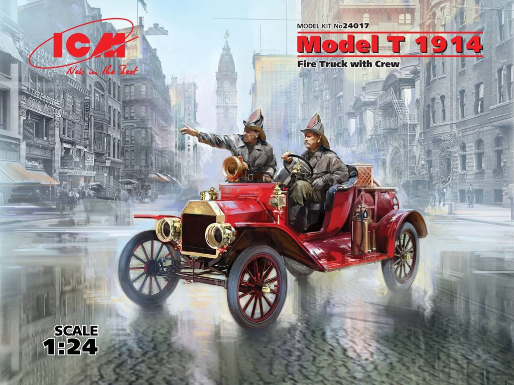 Model T 1914 Fire Truck with Crew   (Vista 1)