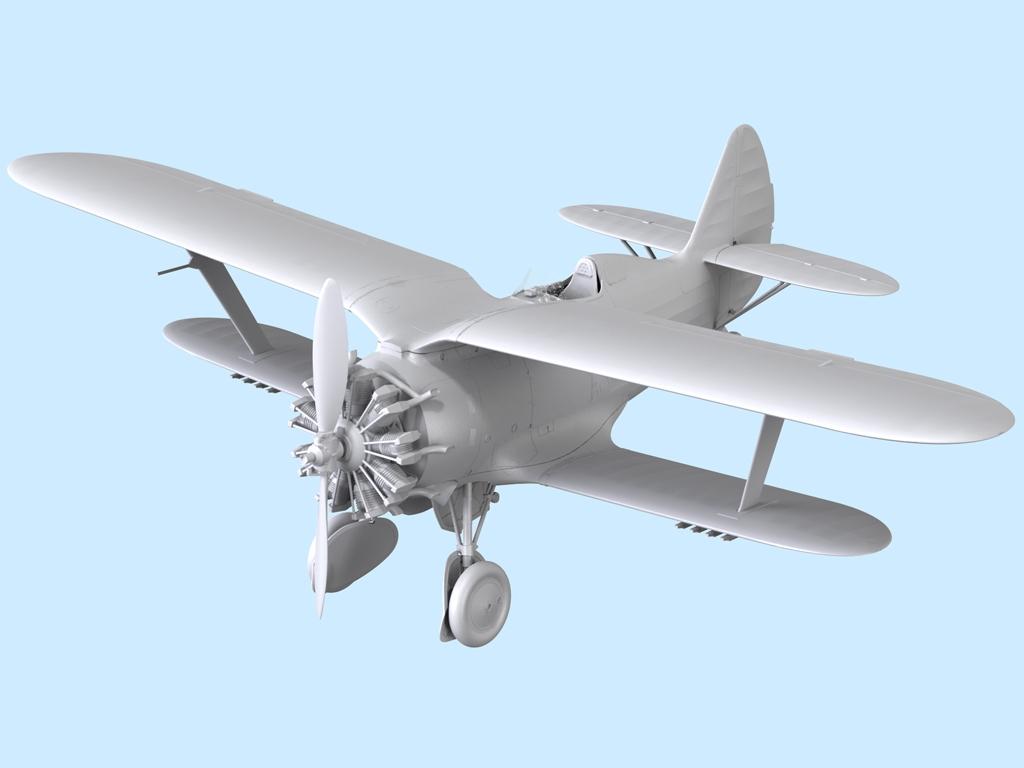 Avion Sovietico I-153  (Vista 2)