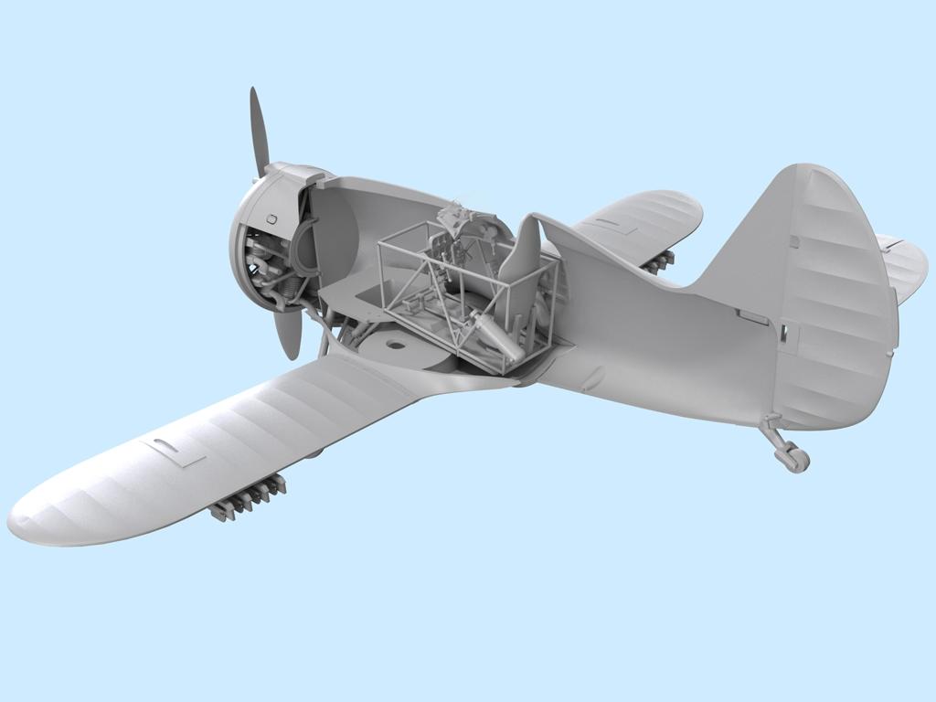 Avion Sovietico I-153  (Vista 3)
