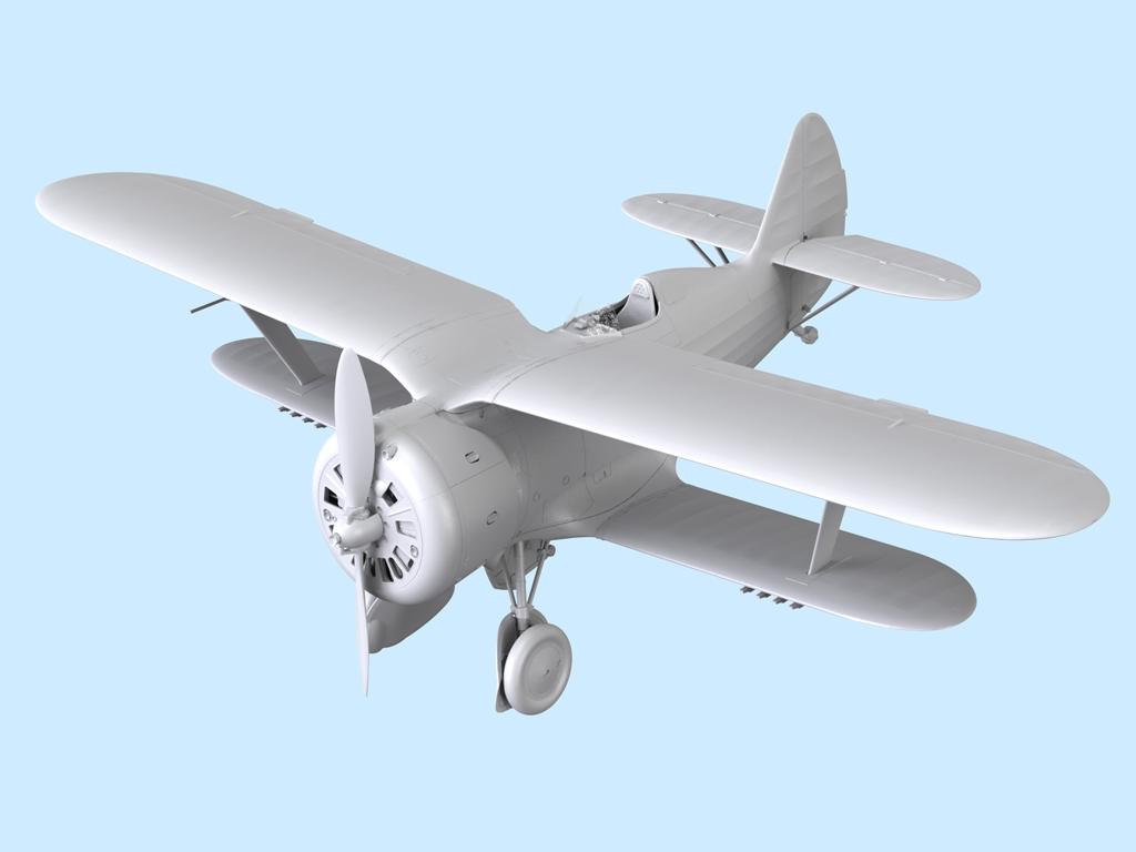 Avion Sovietico I-153  (Vista 4)