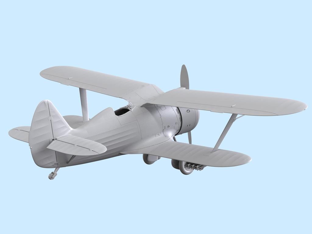 Avion Sovietico I-153  (Vista 5)