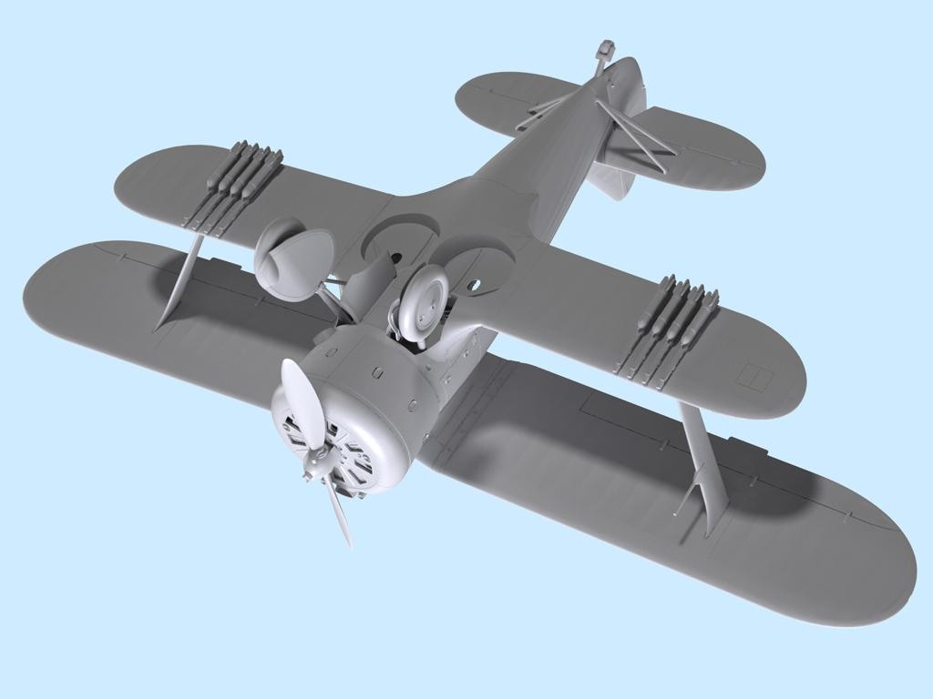Avion Sovietico I-153  (Vista 6)
