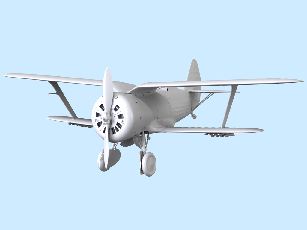 Avion Sovietico I-153  (Vista 7)