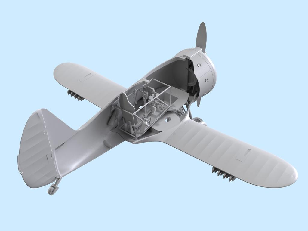 Avion Sovietico I-153  (Vista 8)