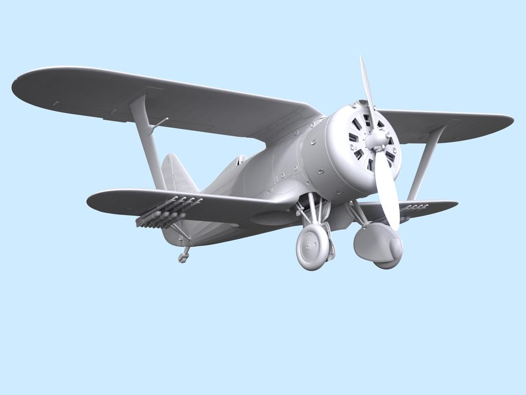 Avion Sovietico I-153  (Vista 9)