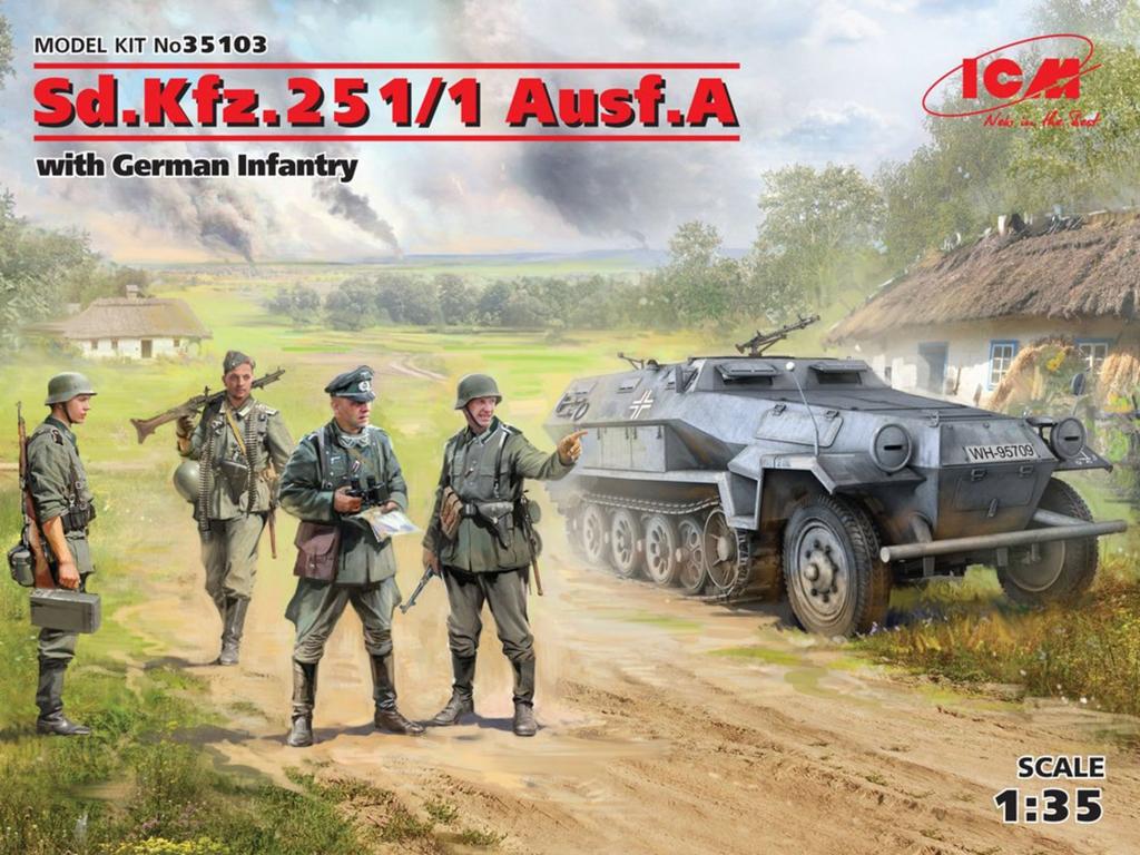 Sd.Kfz.251/1 Ausf.A con Infantería Alema  (Vista 1)