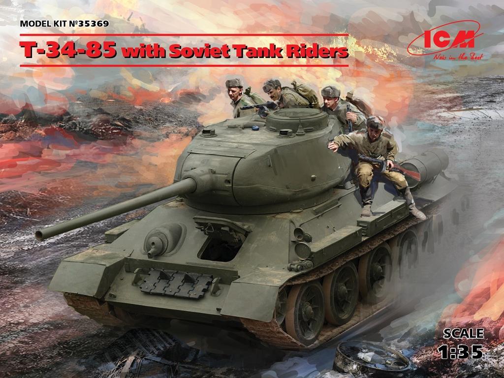 T-34-85 with Soviet Tank Riders  (Vista 1)