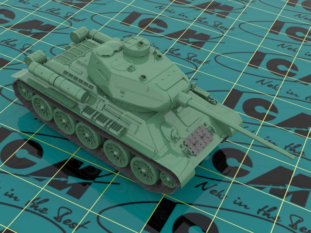T-34-85 with Soviet Tank Riders  (Vista 2)