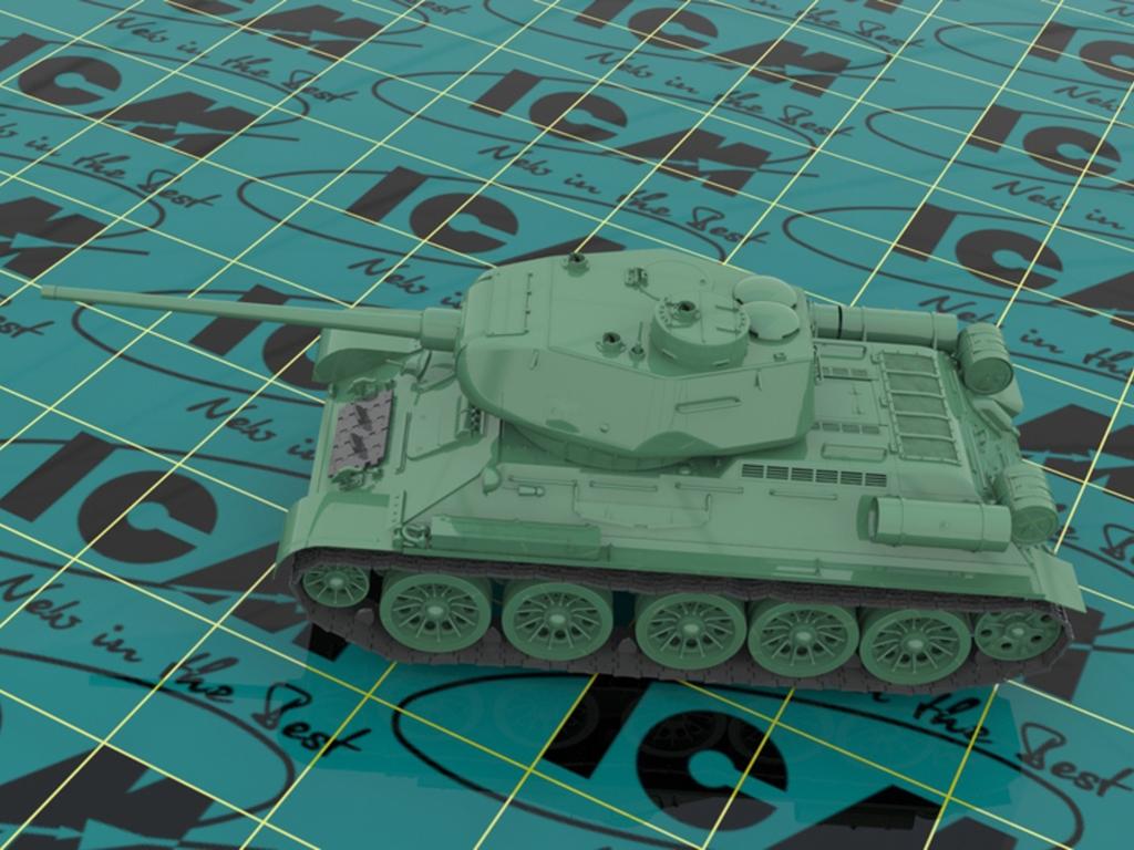 T-34-85 with Soviet Tank Riders  (Vista 5)