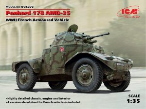 Panhard 178 AMD-35, WWII French Armored   (Vista 1)