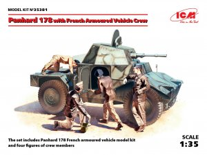 Panhard 178 with French Armoured Vehicle