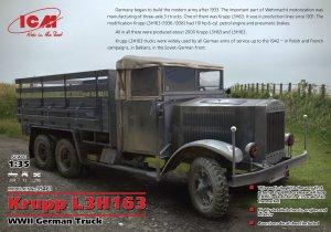 Krupp L3H163, WWII German Army Truck  - Ref.: ICMM-35461