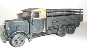 Krupp L3H163, WWII German Army Truck   (Vista 3)