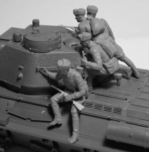 Infantería rusa sobre carro 1943-1945  (Vista 2)