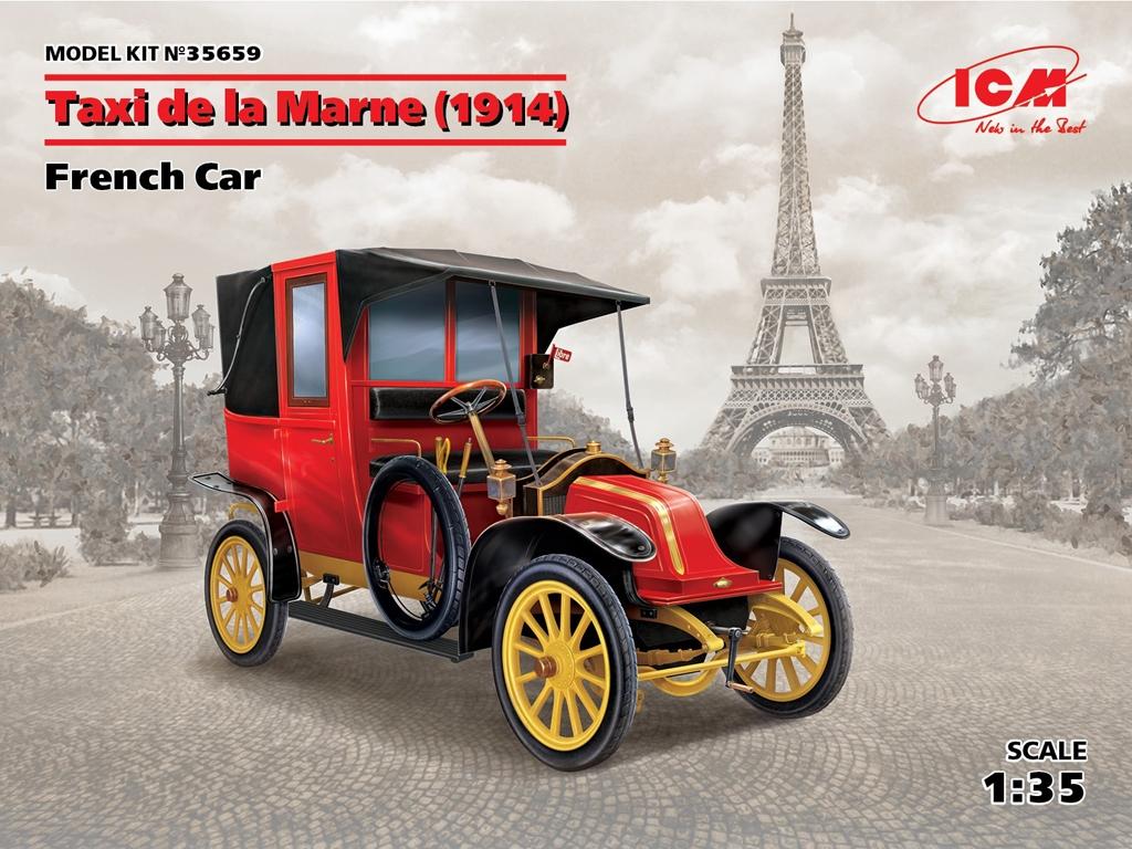 Taxi de la Marne 1914 Coche Francés  (Vista 1)