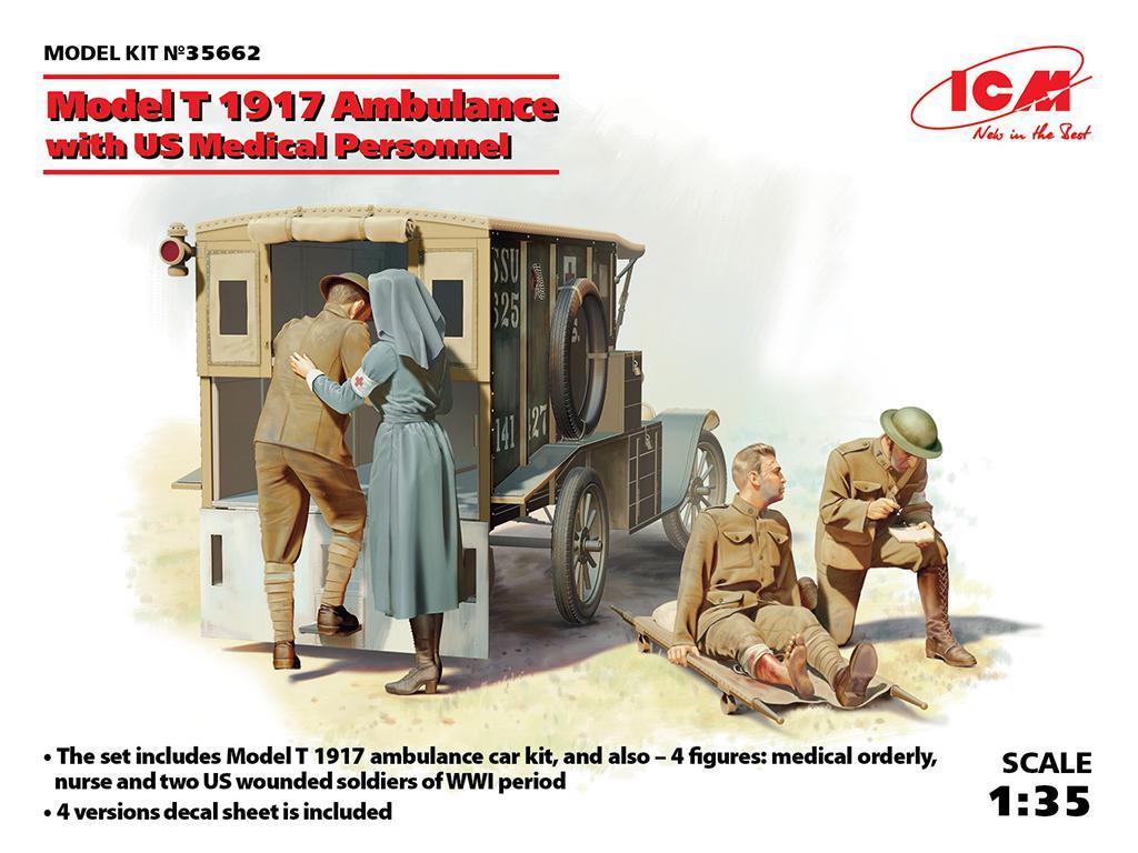 Model T 1917 Ambulance with US Medical P  (Vista 1)