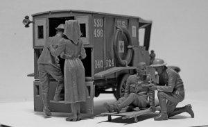 Model T 1917 Ambulance with US Medical P  (Vista 2)