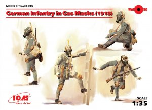 Infanteria Alemana WWI con mascara   (Vista 1)