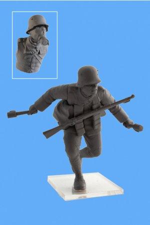 Infanteria Alemana WWI con mascara   (Vista 4)