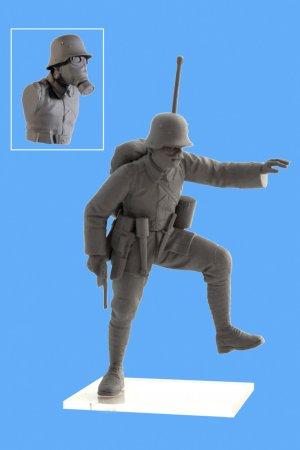 Infanteria Alemana WWI con mascara   (Vista 5)
