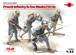 French Infantry in Gas Masks 1916  (Vista 1)