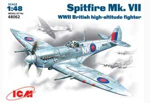 Spitfire Mk.VII , WWII British fighter  (Vista 1)