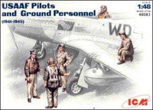 USAAF Pilotos y Grupo de personal  (Vista 1)